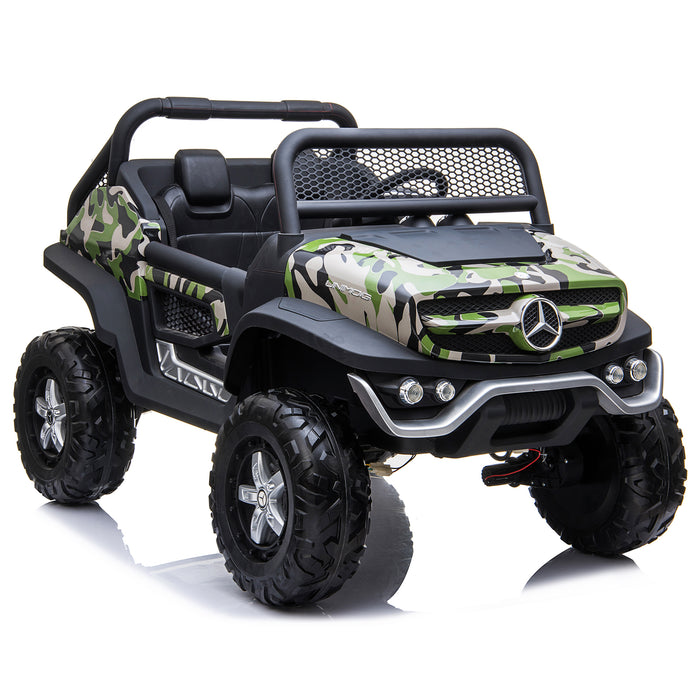 kids mercedes unimog licensed electric ride on car camo 5 benz utv atv buggy 12v 4wd paint red