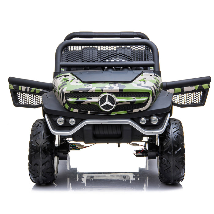 kids mercedes unimog licensed electric ride on car camo 6 benz utv atv buggy 12v 4wd paint red