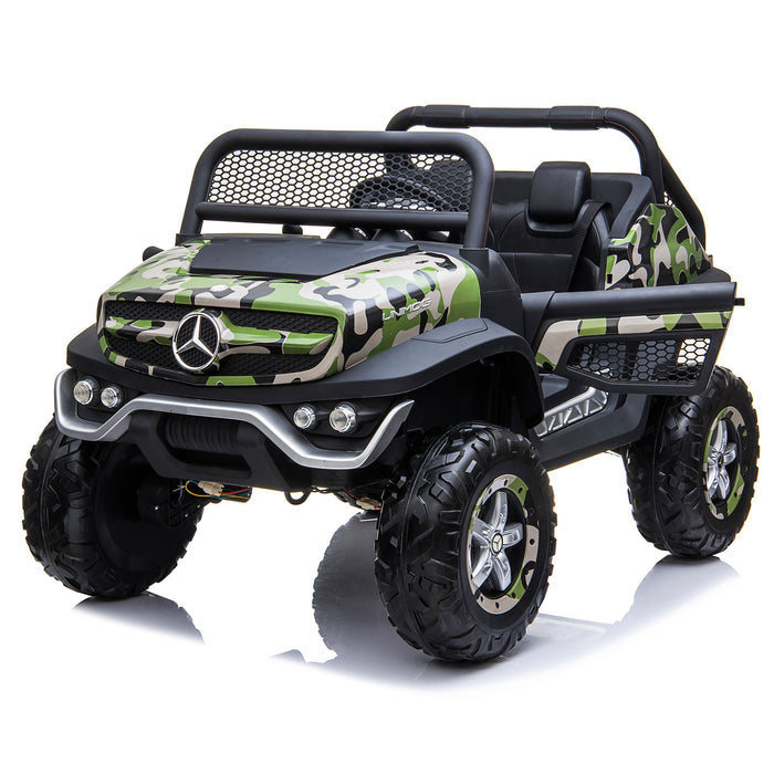 kids mercedes unimog licensed electric ride on car camo 7 benz utv atv buggy 12v 4wd paint camouflage