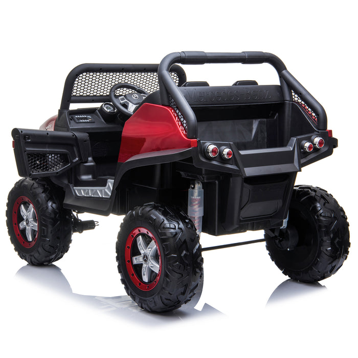 kids mercedes unimog licensed electric ride on car red 10 benz utv atv buggy 12v 4wd