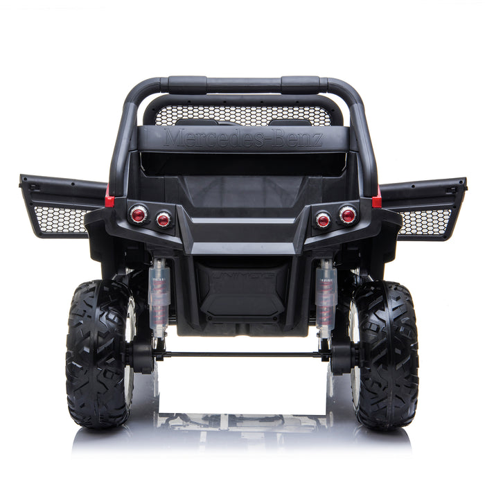 kids mercedes unimog licensed electric ride on car red 11 benz utv atv buggy 12v 4wd