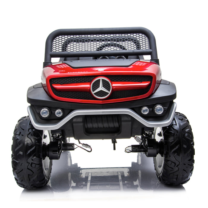 kids mercedes unimog licensed electric ride on car red 12 benz utv atv buggy 12v 4wd paint