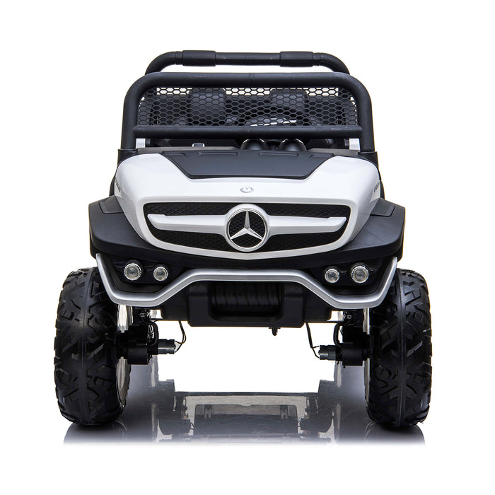 kids mercedes unimog licensed electric ride on car red 14 benz utv atv buggy 12v 4wd paint camouflage