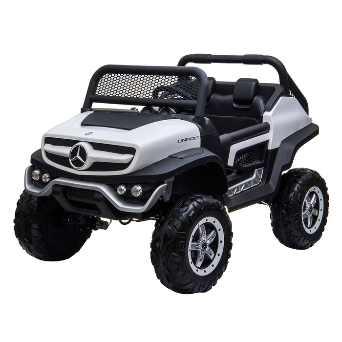 kids mercedes unimog licensed electric ride on car red 15 benz utv atv buggy 12v 4wd paint