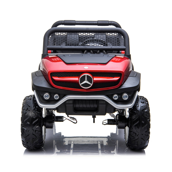 kids mercedes unimog licensed electric ride on car red 1 benz utv atv buggy 12v 4wd paint camouflage