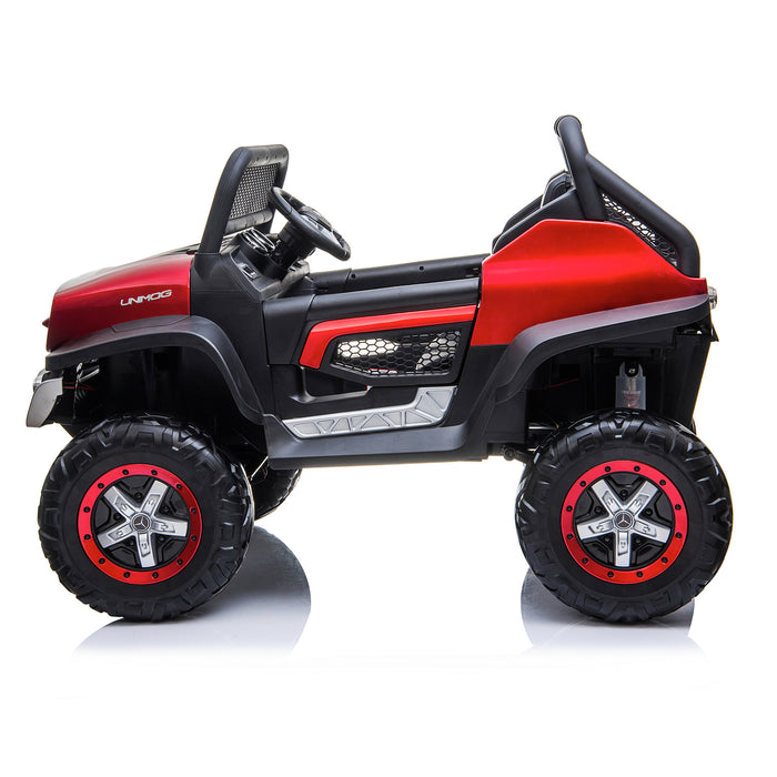 kids mercedes unimog licensed electric ride on car red 3 benz utv atv buggy 12v 4wd paint