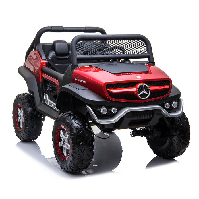kids mercedes unimog licensed electric ride on car red 7 benz utv atv buggy 12v 4wd paint