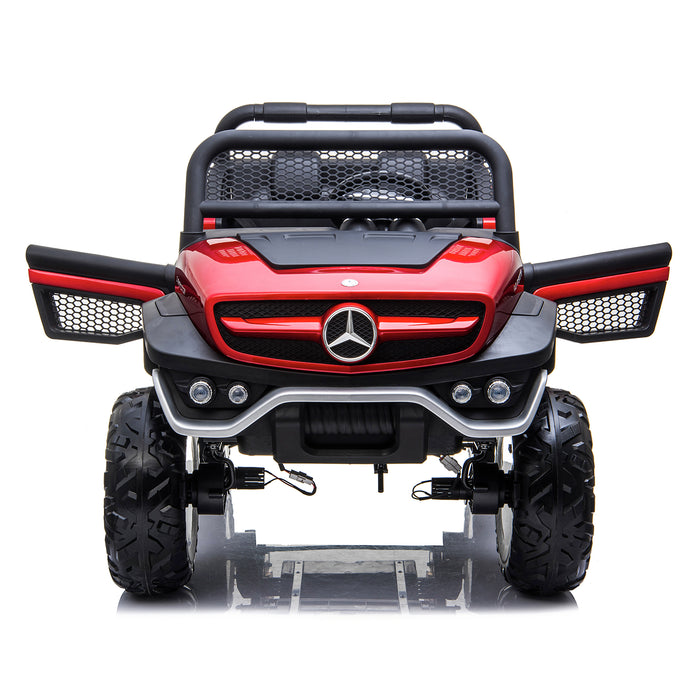 kids mercedes unimog licensed electric ride on car red 8 benz utv atv buggy 12v 4wd paint camouflage