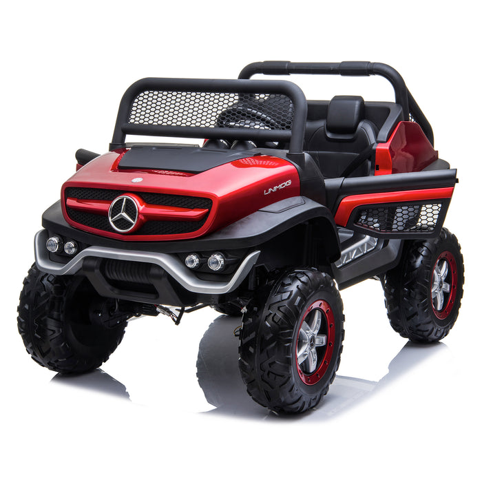kids mercedes unimog licensed electric ride on car red 9 benz utv atv buggy 12v 4wd paint