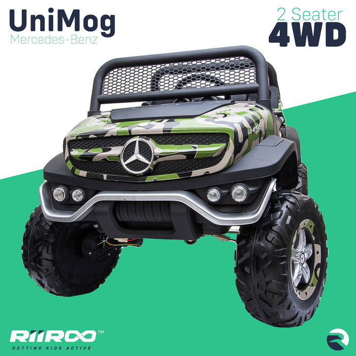 kids mercedes unimog licensed electric ride on car wheels one benz utv atv buggy 12v 4wd paint red