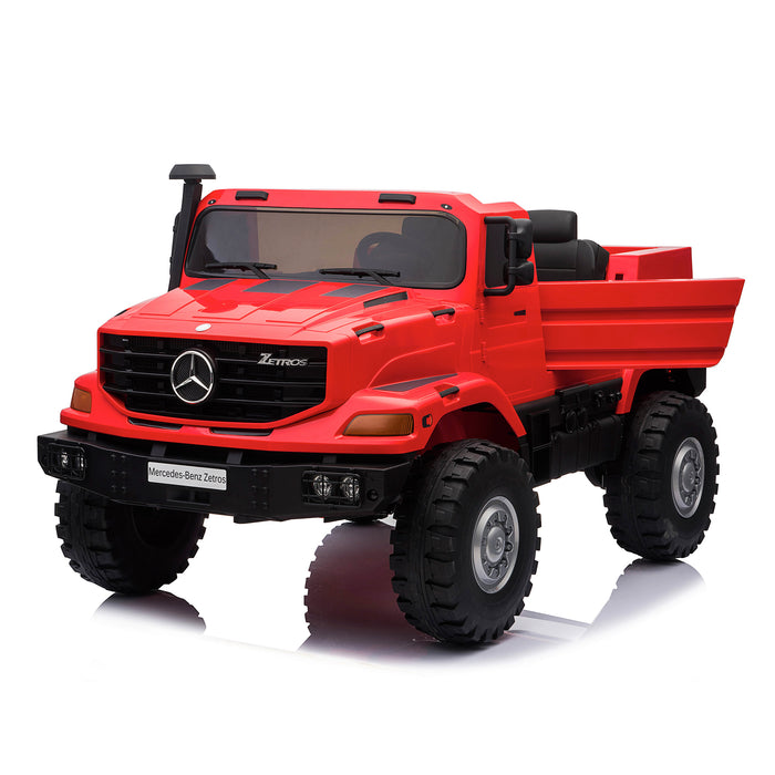 kids mercedes zetros licensed electric ride on car truck red 10 4wd 2 seater