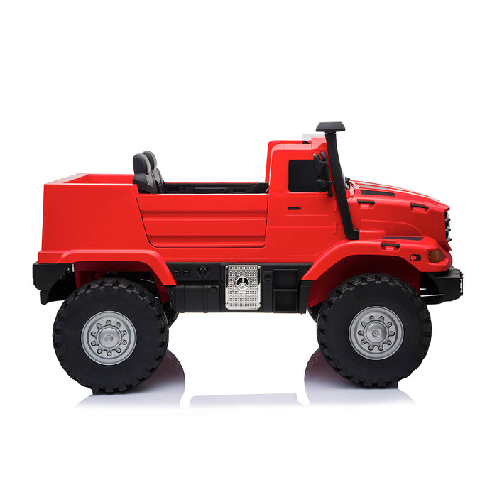 kids mercedes zetros licensed electric ride on car truck red 7 4wd 2 seater