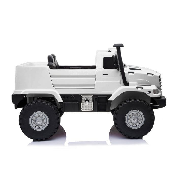 kids mercedes zetros licensed electric ride on car truck white 11 4wd 2 seater