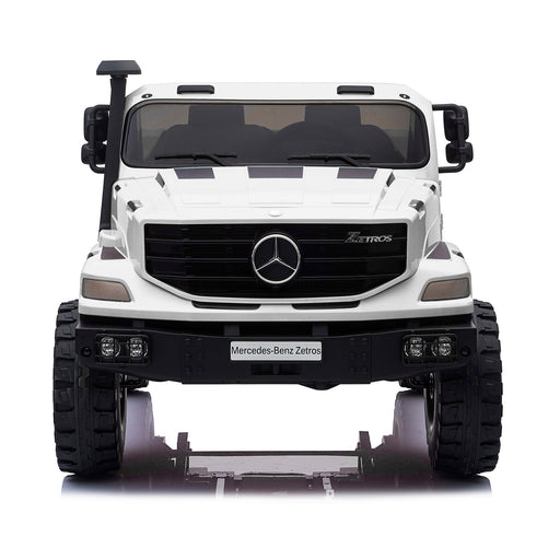 kids mercedes zetros licensed electric ride on car truck white 17 2wd 2 seater 24v