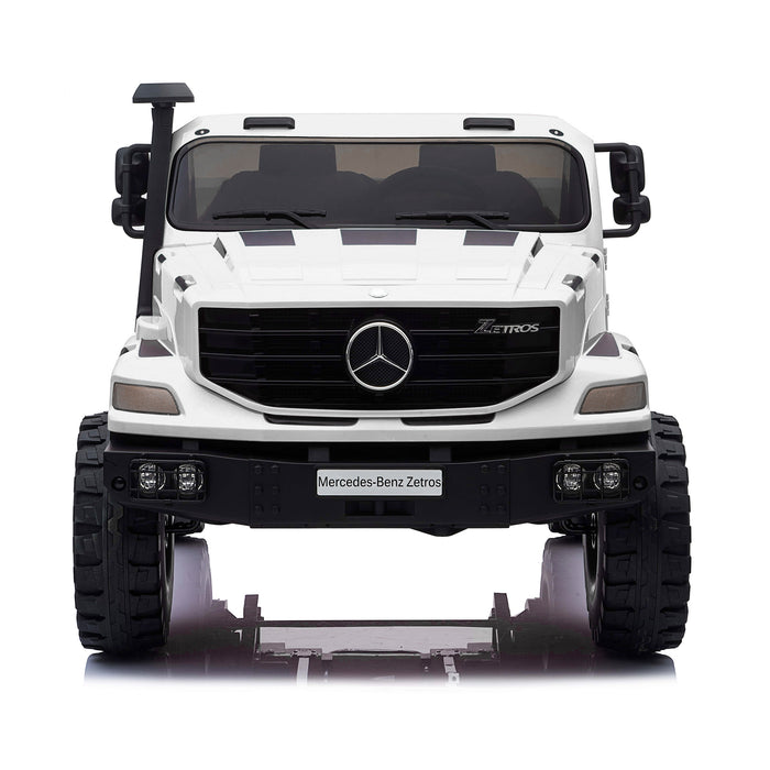 kids mercedes zetros licensed electric ride on car truck white 17 4wd 2 seater