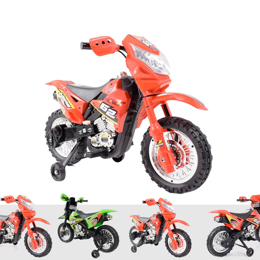 kids motocross 2 Red riiroo 6v motorcross battery powered electric ride on bike toy motorbike
