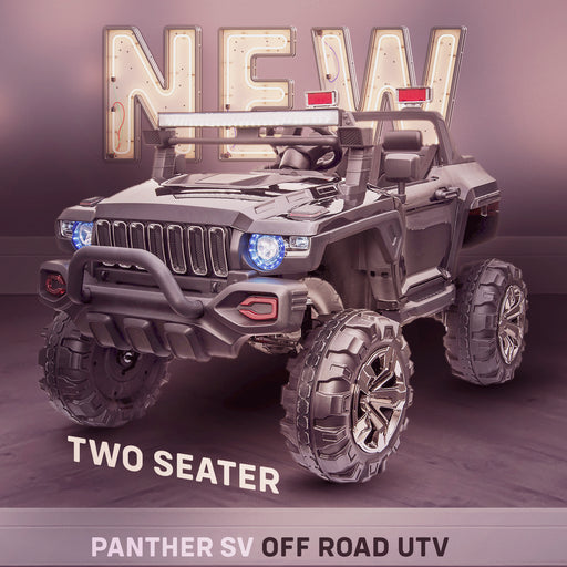 kids panther sv kids ride on car utv mx hummer style new in stock 2 seater 24v 4wd white