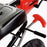 kids pedal powered delux go kart s1000 handbrake riiroo red
