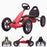 kids pedal powered delux go kart s1000 main red riiroo red