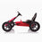 kids pedal powered delux go kart s1000 side red riiroo red