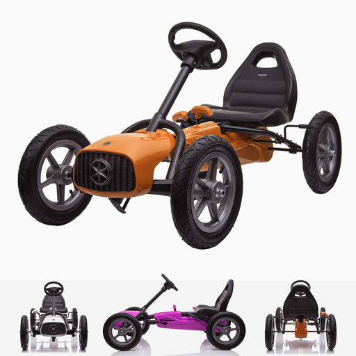 kids pedal powered redux go kart s1000r main orange Orange 2019