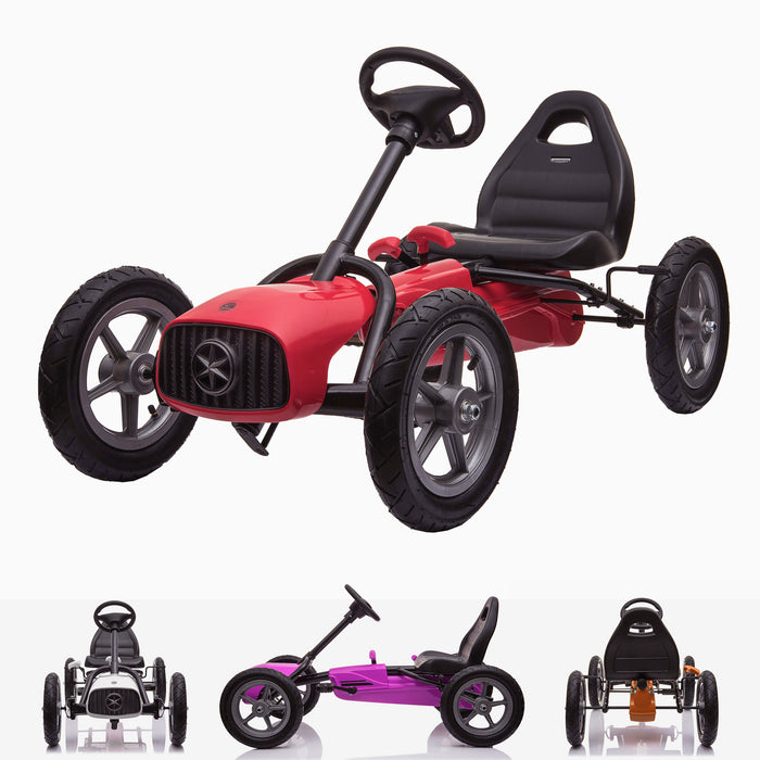 kids pedal powered redux go kart s1000r main red Red 2019