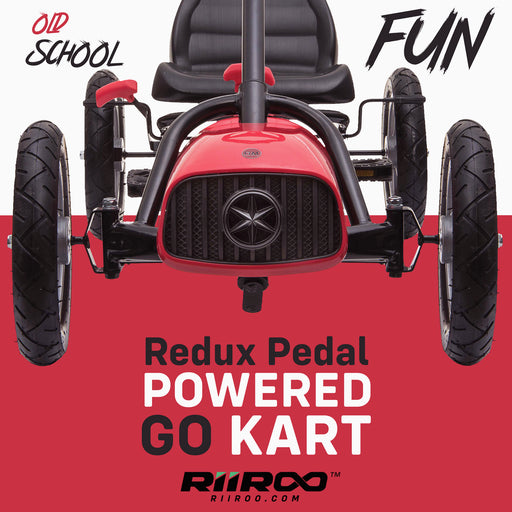 kids pedal powered redux go kart s1000r old school fun riiroo 2019 red