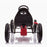 kids pedal powered redux go kart s1000r rear riiroo 2019 red