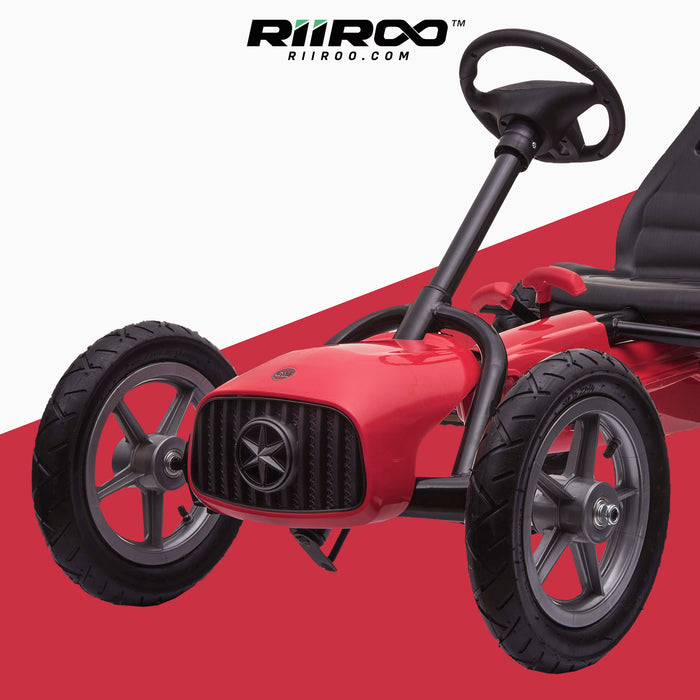 kids pedal powered redux go kart s1000r red close up 2019