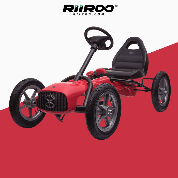 kids pedal powered redux go kart s1000r red riiroo 2019 red
