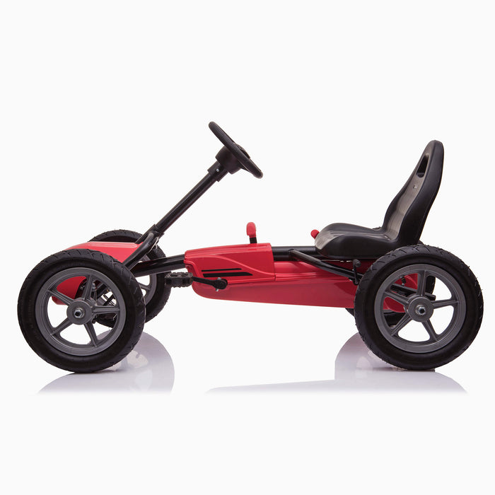 kids pedal powered redux go kart s1000r side riiroo 2019 red