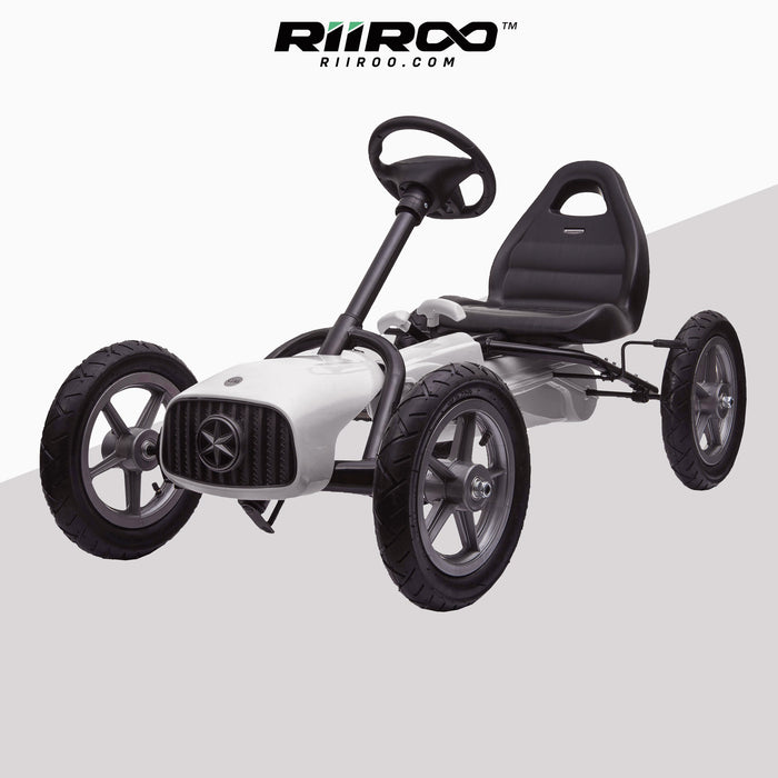 kids pedal powered redux go kart s1000r white riiroo 2019 white