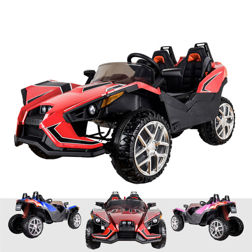 kids polaris slingshot style 12v battery electric ride on car with remote red2 Red riiroo peg perego 12v 2 seater battery ride on toy