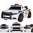 kids police style 12v battery electric ride on car with remote white2 riiroo pursuit ride on car