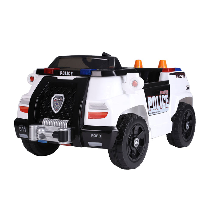 kids police truck with cones electric ride on car 1 riiroo 6v