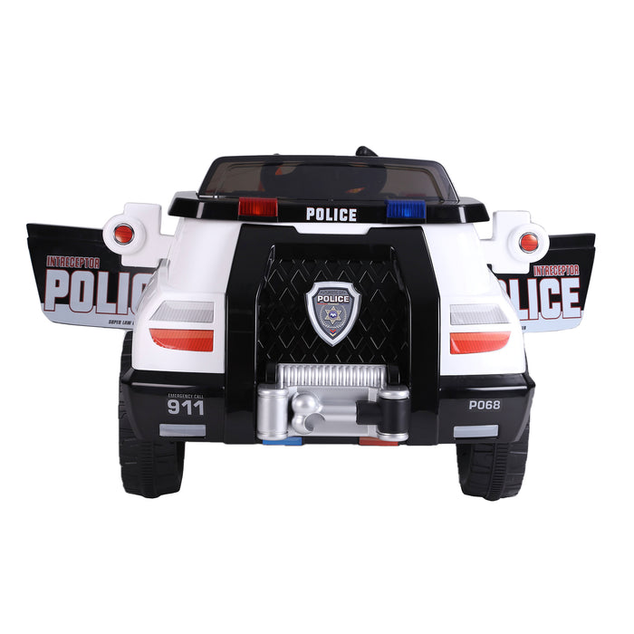 kids police truck with cones electric ride on car 3 riiroo 6v