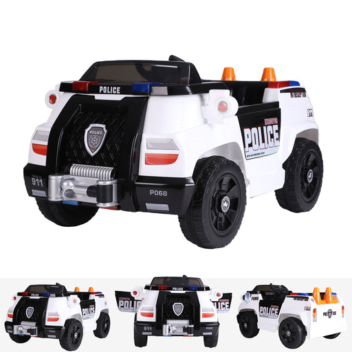 kids police truck with cones electric ride on car main riiroo 6v