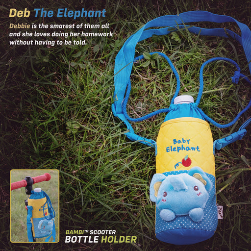 kids push scooter accessories debbie the elephant bottle holder accessory deb