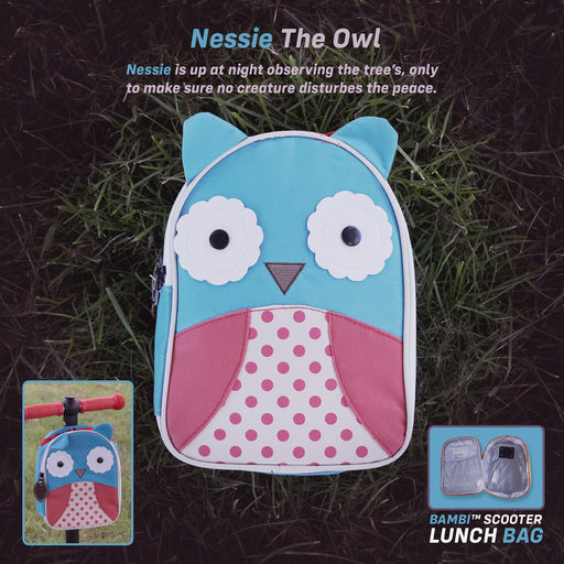 kids push scooter accessories nessie the owl lunch bag accessory