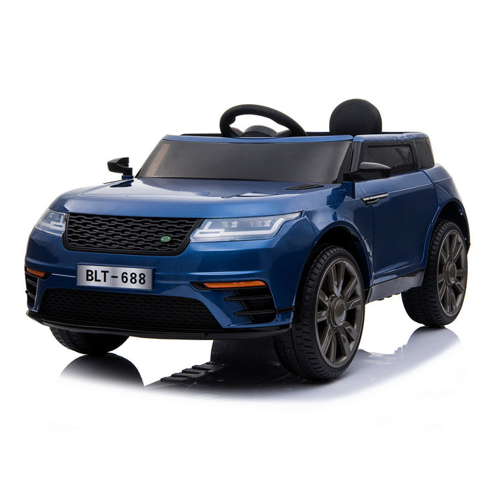 kids range rover velar style electric ride on car jeep blue 1 in painted
