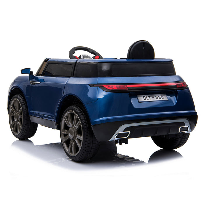 kids range rover velar style electric ride on car jeep blue 2 in painted