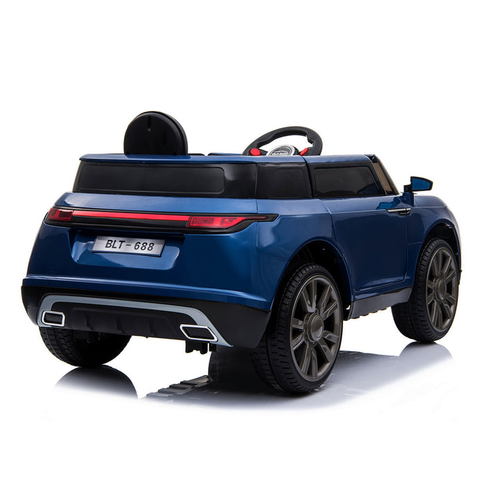 kids range rover velar style electric ride on car jeep blue 4 in painted
