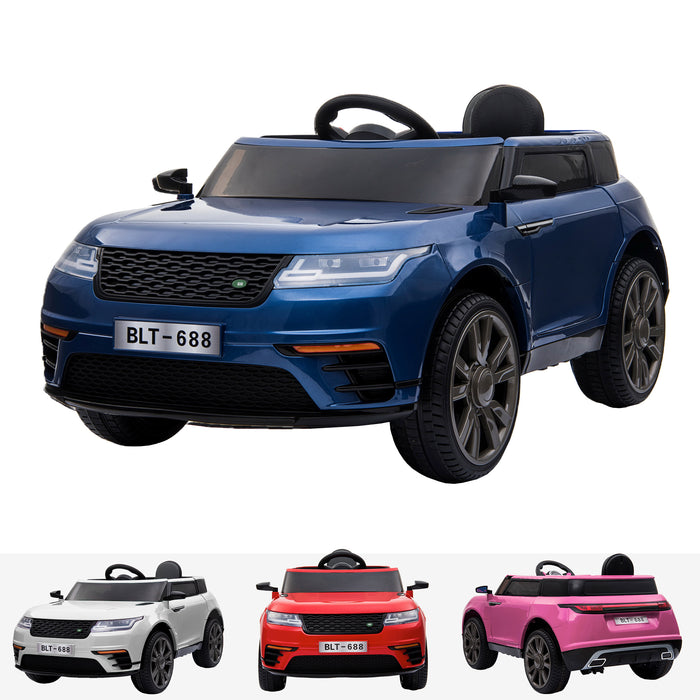 kids range rover velar style electric ride on car jeep blue in painted blue