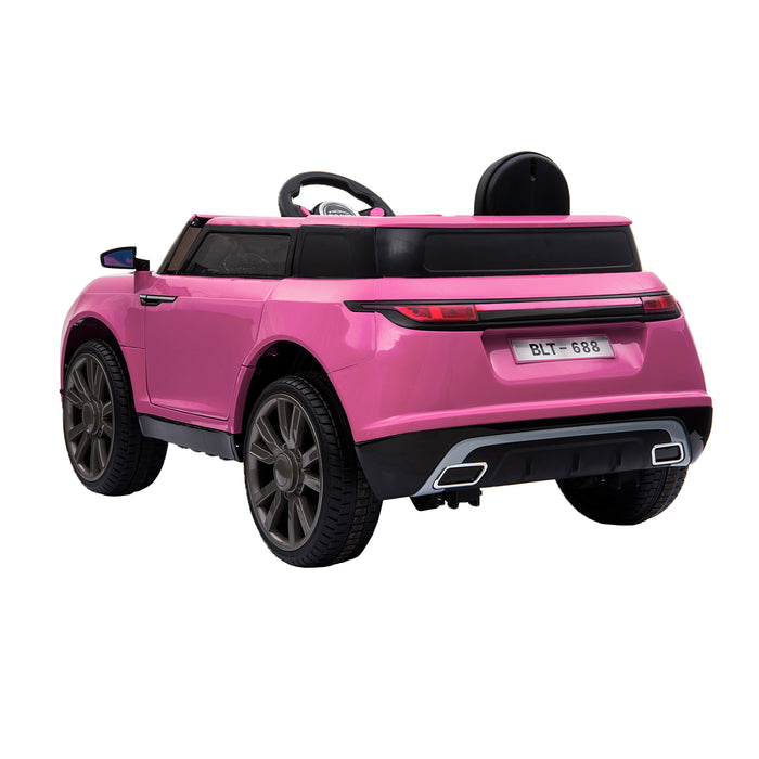 kids range rover velar style electric ride on car jeep pink 2 in