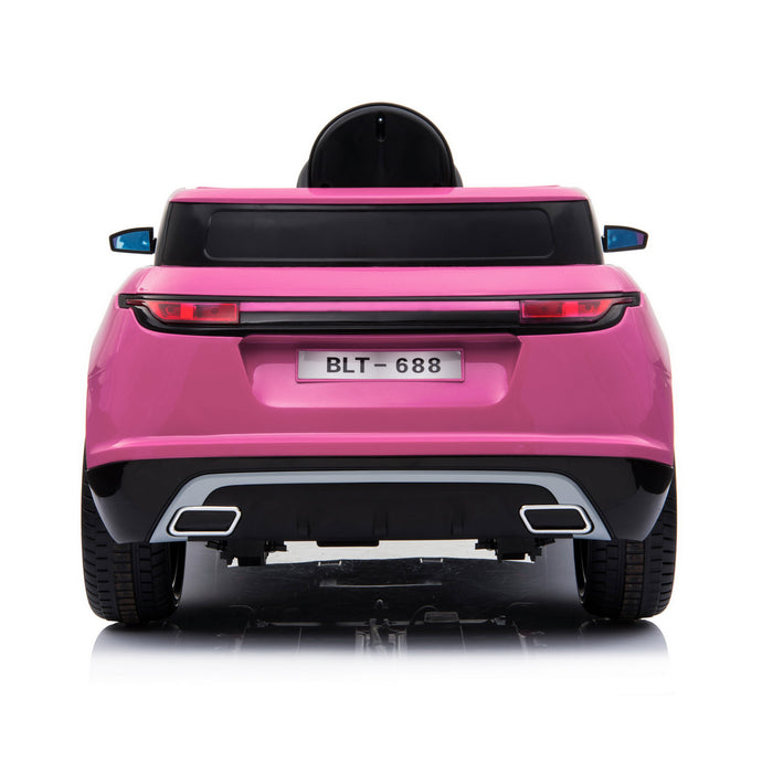 kids range rover velar style electric ride on car jeep pink 3 in