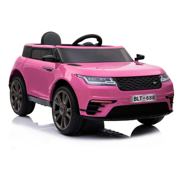 kids range rover velar style electric ride on car jeep pink 5 in