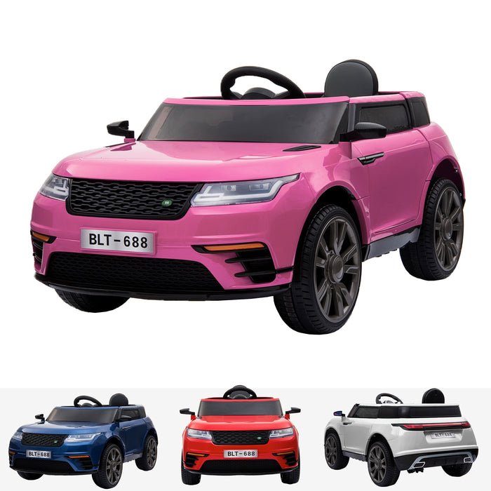 kids range rover velar style electric ride on car jeep pink in pink