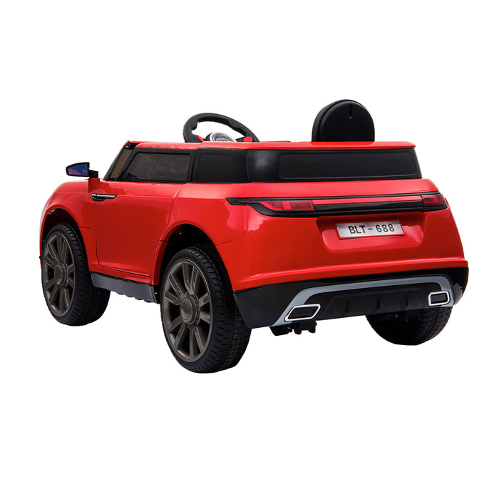 kids range rover velar style electric ride on car jeep red 2 in painted