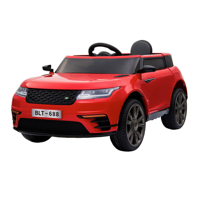 kids range rover velar style electric ride on car jeep red 3 in painted