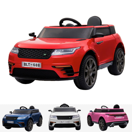 kids range rover velar style electric ride on car jeep red in painted red